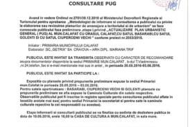 Anunt public consultare PUG