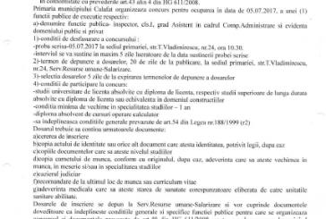Anunț concurs funcție publică de execuție