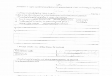 Lista preemptorilor în vederea execrcitării dreptului de preempțiune asupra vânzării în ordinea rangului de preferință 22 iunie 2017