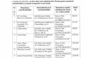 Acte administrative fiscale pentru contribuabili cu restante la impozite si taxe locale