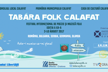 Tabăra de Folk de la Calafat în perioada 03-10 august 2017