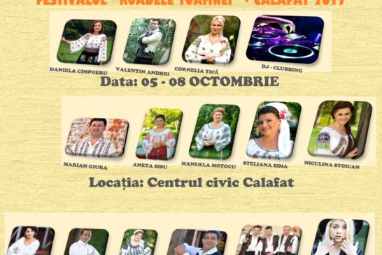"""Festivalul """"Roadele Toamnei"""" Calafat – 05 – 08 octombrie 2017"""