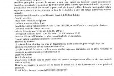 Concurs muncitor necalificat DSUP