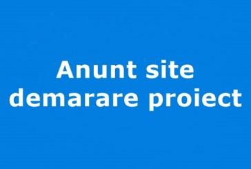 Anunt site demarare proiect